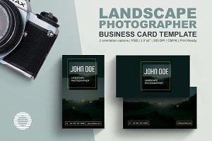 Landscape Photographer Business Card