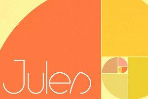 Jules sans serif font