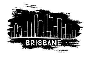 Brisbane Skyline Silhouette