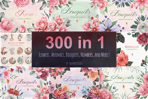 300 IN 1 WATERCOLOR BUNDLE
