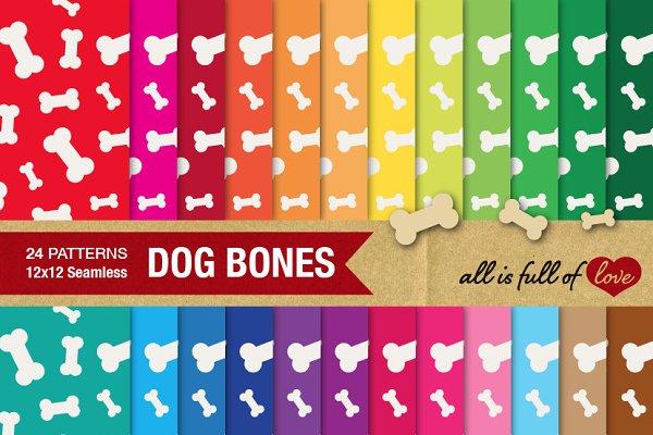 24 Dog Bone Background Textures