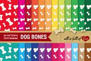24 Dog Bone Background Textures