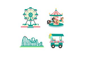 Amusement Park Color Sings Set