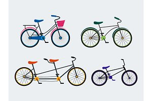 Bicycle Set and Background Pattern