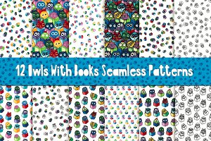 Fun Owls With Books Patterns