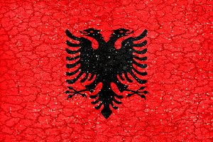 Albania Grunge Style National Flag