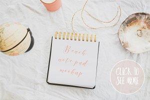Styled Notebook Mockup
