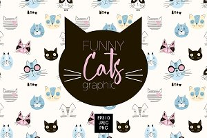 funny cats graphic