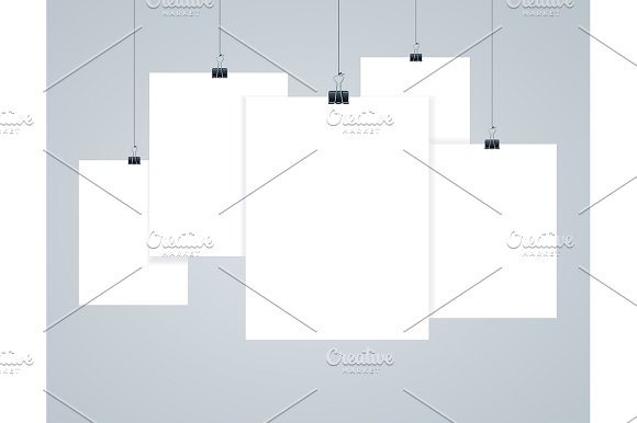 blank paper frames templates graphic objects creative market