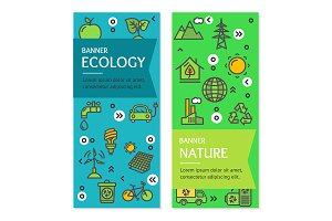 Ecology Flyer Banner Card Set