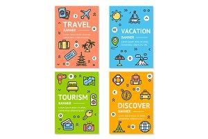 Travel Flyer Banner Set