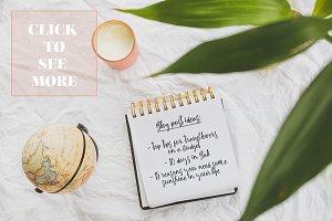 Notebook Mockup: Creative Workspace
