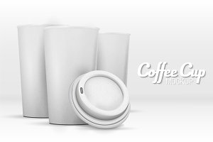 Vector Coffee Cup Mockup Set