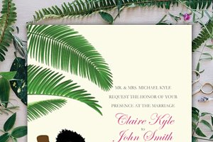 WEDDING INVITATION_TROPICAL THEME