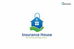 Insurance House Logo Template