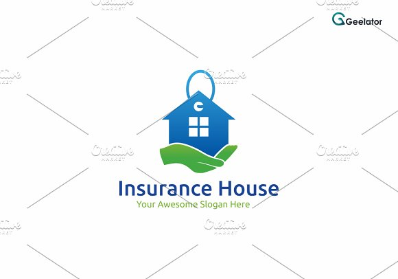 Insurance House Logo Template