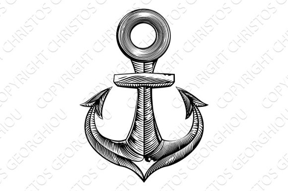 Vintage Style Anchor