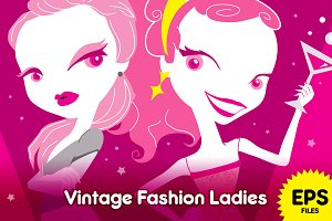 Vintage Fashion Ladies ♥ in pink