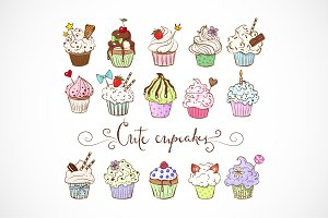 Doodle cupcakes