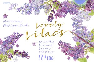 Lovely Lilacs-Design Pack!