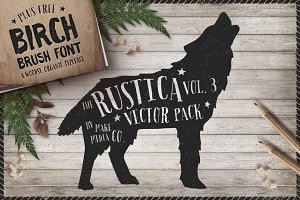 Rustica Vol. 3 + Birch Brush Font