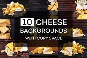 Cheese backgrounds bundle