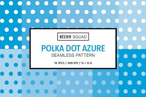 Polka Dot Azure Pattern