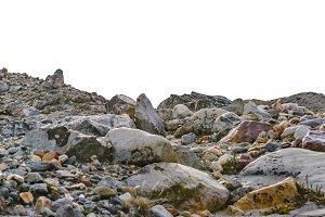 Big Rocks Background Isolated Photo