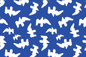 Birds Silhouette Seamless Pattern Design