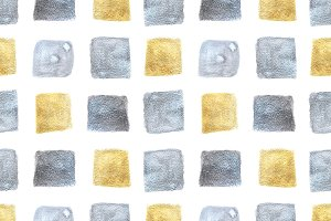 Silver and golden cubes pattern