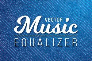 Vector Music Equalizer Waves