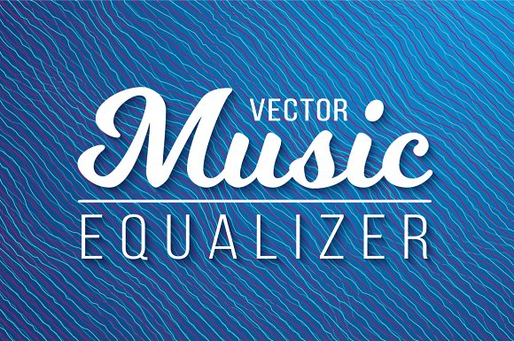 Vector Music Equalizer Waves