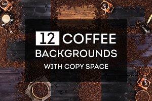 Coffee backgrounds bundle