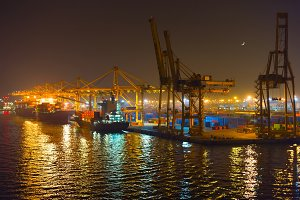 Barcelona shipping port. Spain