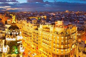 Madrid skyline, Spain