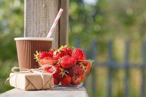 Fresh and ripe strawberries