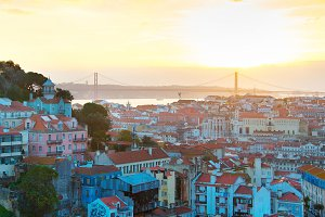 Lisbon beautiful Old Town, Portugal