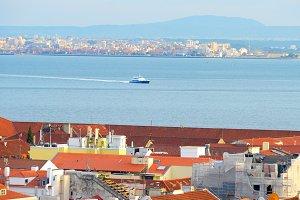 Lisbon to Almada ferry. Portugal
