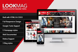 LookMag HTML5 Magazine Template