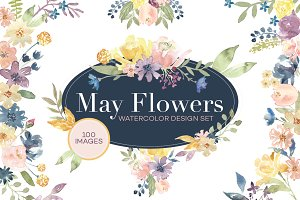 May Flowers Design Set - 50% OFF