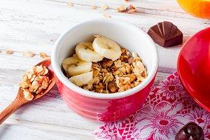 Healthy breackfast granola