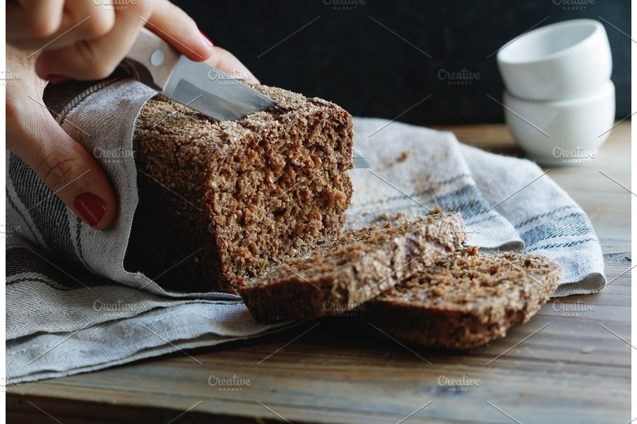 Image result for whole grain bread on the wooden table