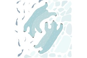 Swimming Polar Bears