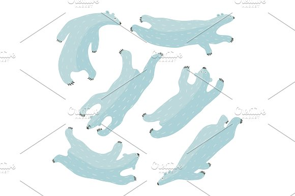 Swimming Polar Bears Collection