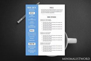 Blue Banner Resume - MS Word