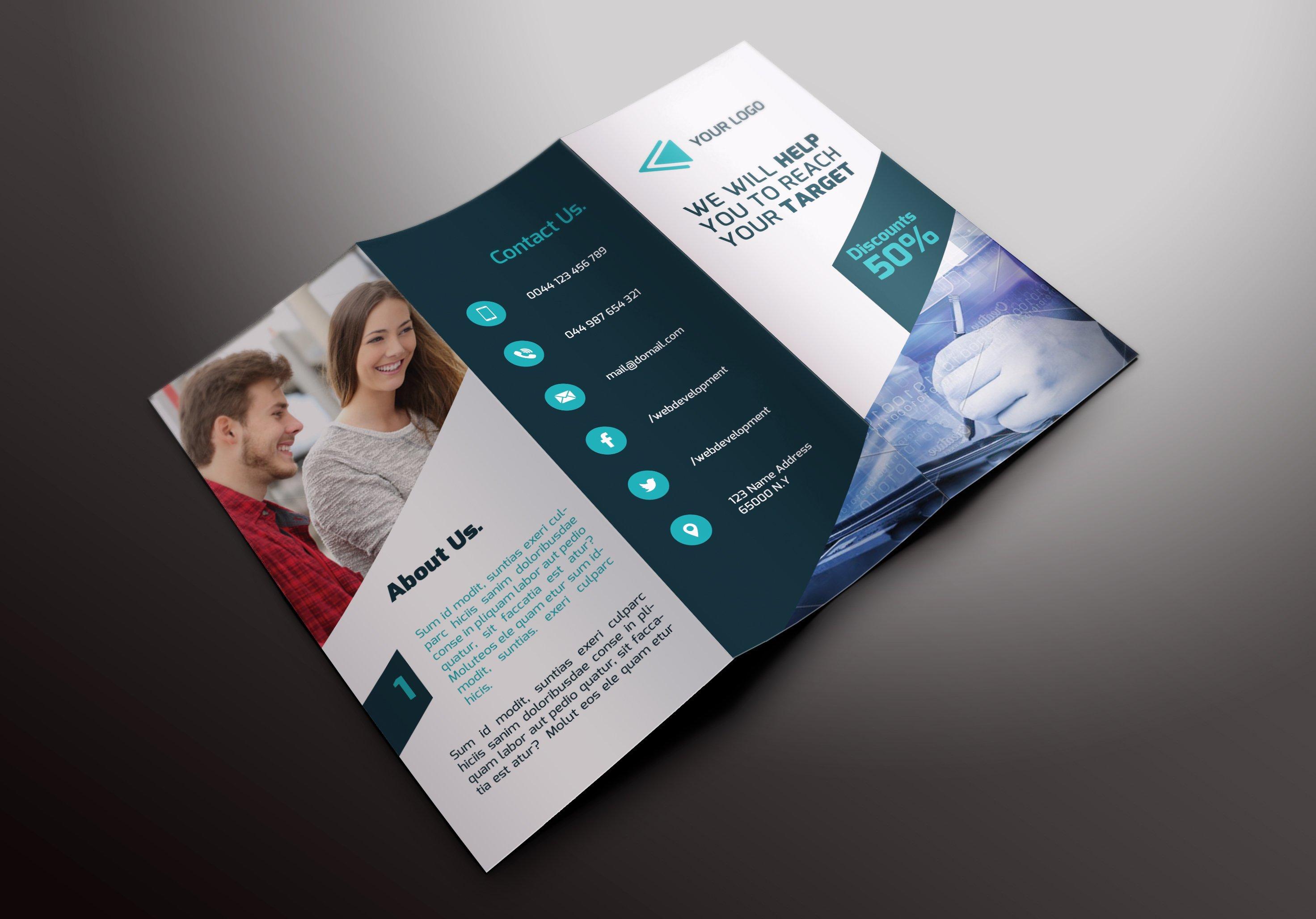 it services tri fold brochures brochure templates creative market