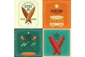 Retro Surfing Posters
