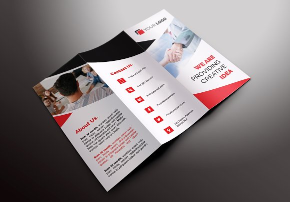 Business Trifold Brochures Brochure Templates Creative Market - Business tri fold brochure templates