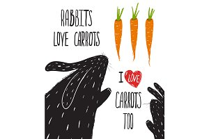 Scratchy Rabbits Love Carrots