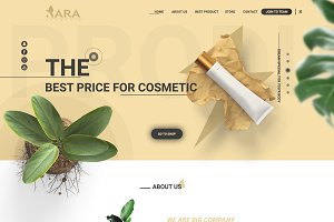 Xara Cosmetic Web Template
